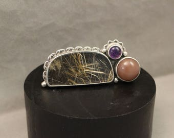 Rutilated Double Ring