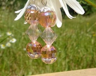 Pink Crystal Earrings (E52)