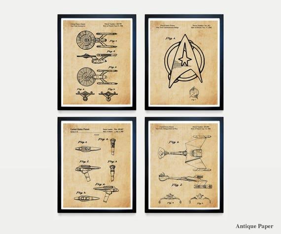Star Trek Patent - Star Trek Art - Star Trek Poster - Star Trek Enterprise - Klingon - Star Trek Fan Art - Star Trek Patent Print - Trekkie