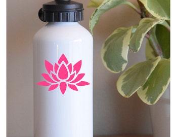 Lotus tumbler decal, water bottle decal, lotus bottle decal, lotus flower decal, tumbler sticker, water bottle sticker, vinyl lotus decal