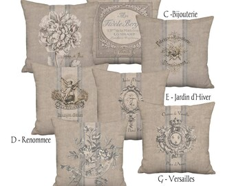 Rustic French Country Farmhouse Grain Sack Style Coordinates - 16x 18x 20x 22x 24x 26x 28x Inch Pillow Cover Linen Cotton Cushion Cover