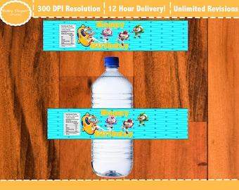 Top Wings Bottle Labels, Top Wings Party Printable Bottle Labels