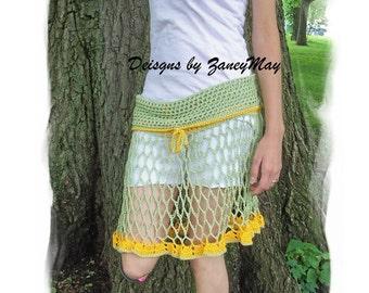 Sun Skirt, Crochet Pattern in PDF