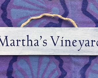 Martha's Vineyard Weathered Hanging Sign