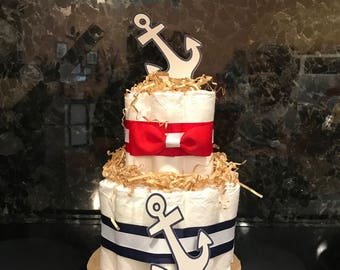 Anchor Diaper Cake