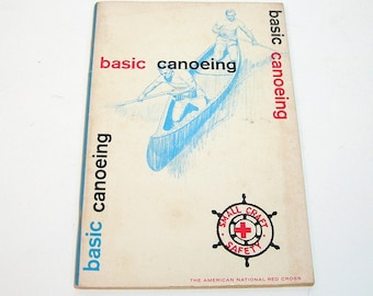 Basic Canoeing, 1965 Vintage Red Cross Book