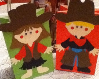 Cute Cowboy and Cowgirl Goody Bags