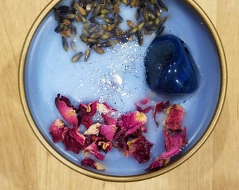 Crystal Candle - Blue Lavender (Sodalite)