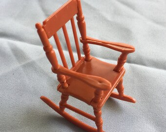 Dollhouse Chair,Doll House Chair,Doll Rocking Chair,Mini Rocking Chair,Dollhouse Rocker,Mini Rocker,Doll House Rocker,Mini Brown Rocker