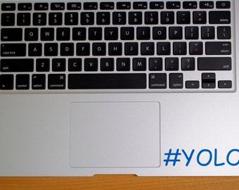 Vinyl Decal #YOLO light blue