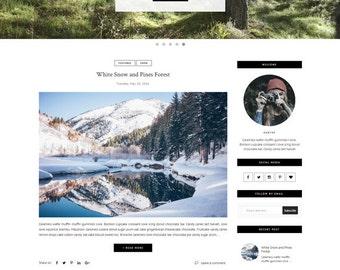 Premade Blogger Template - Responsive Template - Clean Minimalist template - Slide Show - Photography Blogspot Theme