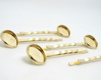 20 Pieces 60mm Gold Bobby Pins with 8mm Pad|Plain|DIY Hair Decoration|Hair Accessories|Head Supplies