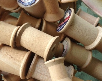 187 Vintage Wooden Spools