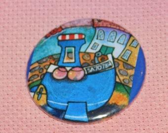 CLEARANCE, Seconds stock, Boat Needle Minder, Licensed, Cross Stitch Keeper, Dorian Davies Art, Fridge Magnet, Button Magnet, Pin Holder