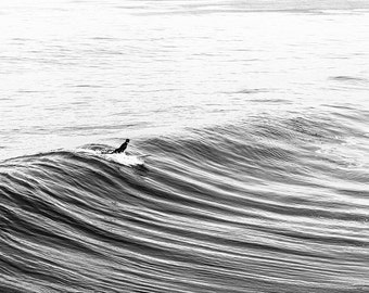 Surf Photography, Brother Gift, Large Art, College Student Gift, Surf Decor, Husband Gift, Surfboard, Black and White Photography, Teen Gift