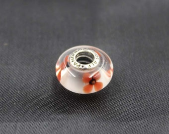 Authentic Pandora   Murano Glass Wild Flower Tribute 791636