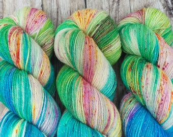 Seashores of Old Mexico - Hand Dyed Yarn - Fingering Weight - SW Merino / Nylon / Lurex - 100g