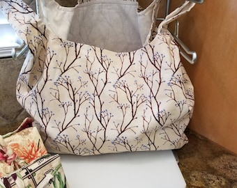Willowy Vines Grocery Tote