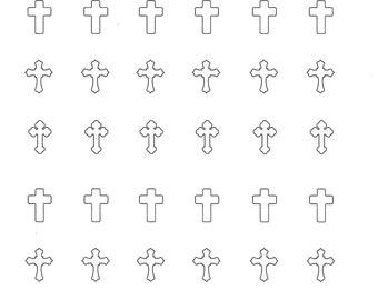 Cross Royal Icing Transfer Template