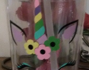 uncorn tumbler cup , custom made