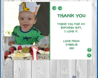 10 x Personalised Birthday Thank you Party/Present Cards Invitations  With Envelopes