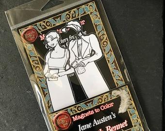 Magnet to color of Elizabeth Bennet from Jane Austen's Pride & Prejudice