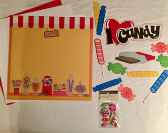 I Love Candy Scrapbooking Kit