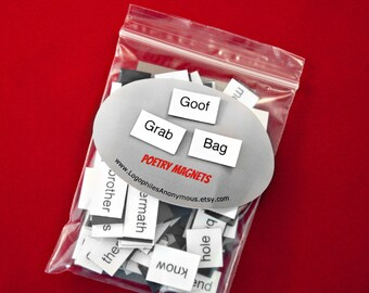 Goof Grab Bag Poetry Magnets - Clearance Refrigerator Word Quote MagnetsFree Shipping