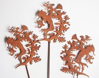 Faun elf flower plug Plant rust Stainless Steel