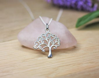 Silver Tree of Life Necklace, sterling silver