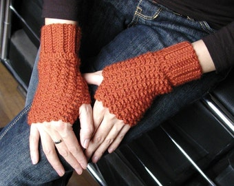 Crocheted Fingerless Gloves - PDF Crochet Pattern