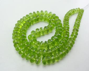 16-inch AAAA Peridot faceted beads size 5.5-8mm 163cts GW5094