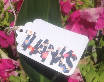 "A FLORAL Bouquet ""Thanks"" Favor Tags"