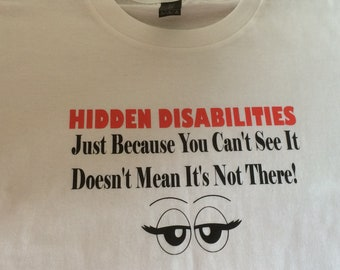 Disability awareness tshirt