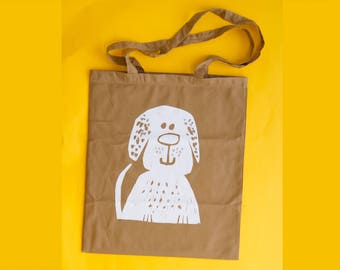 Tote bag, Cat, Dog, Shoulder bag, Cat lover Pet present, Shopping Bag, Book bag