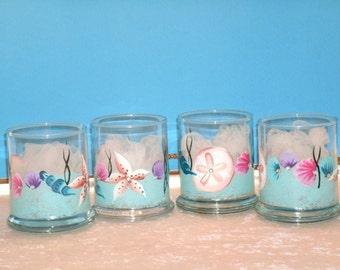 SEASHELL VOTIVE CUPS, set of four