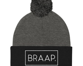 Knitted Pom Pom Cap