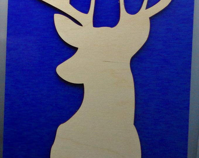 Deer from Plywood and Recycled Aluminum in Purple