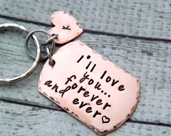 ill love you forever, i love you forever keychain, personalized keychain, mens keychain, gift for boyfriend, mens gift, personalized mens