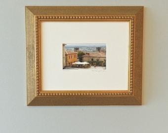 Framed Art, Italian Photography, Framed Photography, Tuscany Italy Landscape Photography, Framed Wall Art, Italian Decor, Italian Piazza