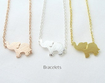 Tiny Elephant Bracelet Baby Animal Bracelet Minimalist Jewelry, Birthday Gift, Everyday Wear