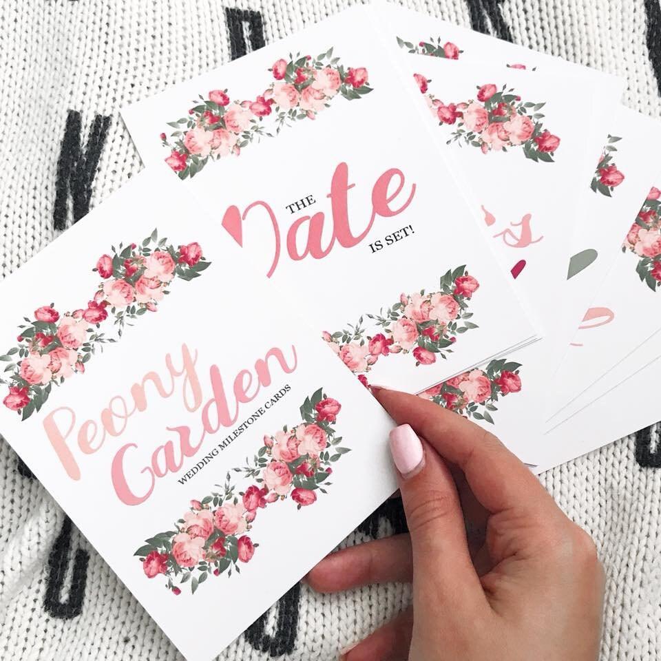 Hochzeits Meilensteinkarten 20er Set Hochzeitsgeschenk