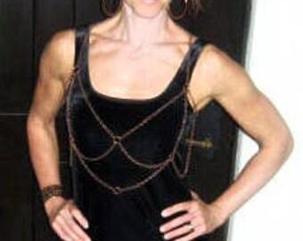 Body Chain, Venus Harness, Sensual Necklace, Goddess Jewelry, Boho, Sexy, Belly Dancing
