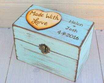 Rustic Recipe Boxes - Recipe Storage - Wood Recipe Box - Farmhouse Style Chic - Recipes Organizer - Fixer Upper Style - Rustic Home Decor