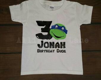 TNMT - Teenage Mutant Ninja Turtles Birthday Shirt - TODDLER sizes