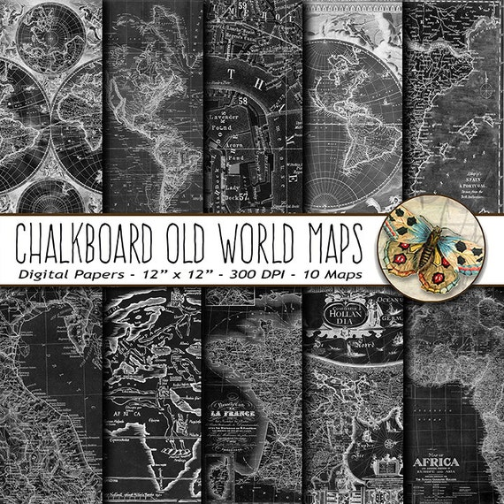 Old world chalkboard maps digital paper old world maps paper old old world chalkboard maps digital paper old world maps paper old vintage chalkboard nautical maps map background paper gumiabroncs Image collections