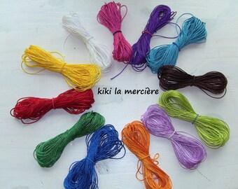 yarn has bracelet, thin brilliant yarn, strong braided cord, set of 120 m, 12 colors
