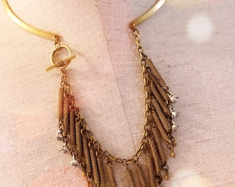 Vintage Collar with Kuchi Fringe