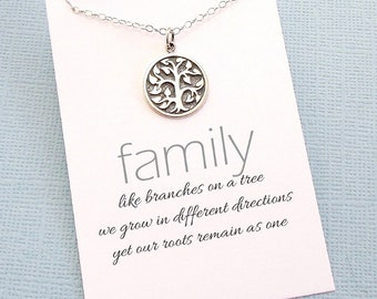 Tree of Life Family Necklace | Family Tree Mom Necklace, Gift for Mom, Mothers Day Gift, Gifts for Mom, Grandma Gift Mothers Necklace | FA01