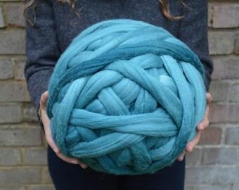Felted Chunky Yarn - Dyed Merino Wool Lightly Felted Roving - Superfine 16 Micron Super Super Bulky Yarn